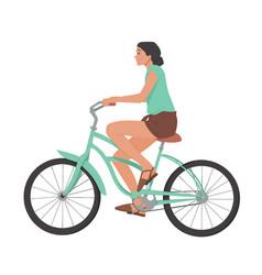 girl riding bicycle woman on bike vector image