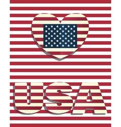 heart love USA amerika vector image