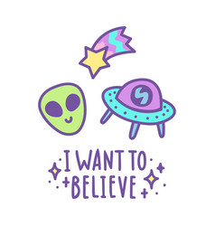 I want to believe vector