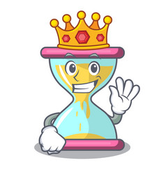 king vintage hourglass isolated on the mascot vector image