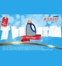 Laundry detergent ads template with package design vector