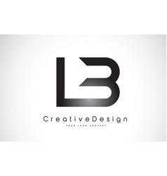 Lb l b letter logo design creative icon modern vector
