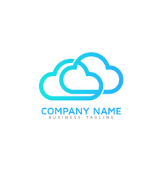 Link cloud logo icon design vector