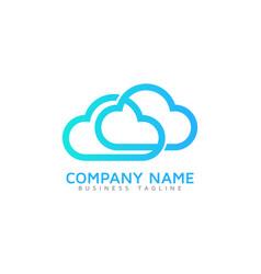 link cloud logo icon design vector image