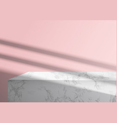 marble podium and overlay shadow for branding vector image