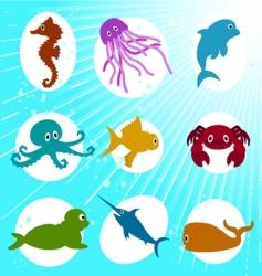 Marine life cartoon vector