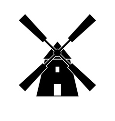 Mill isolate icon vector image