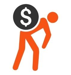 Money Thief Flat Icon vector