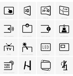 Monitor technology icons vector
