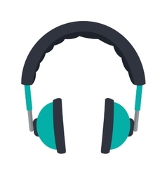 padded headphones icon vector image