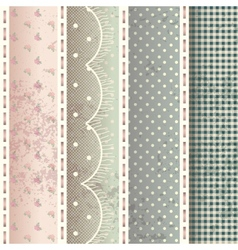Pattern in shabby chic style vector