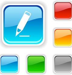 Pencil button vector