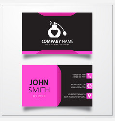 Perfume with heart icon business card template vector