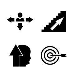 personal career simple related icons vector image
