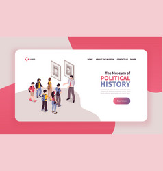 political history museum website vector image