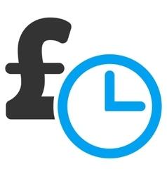 Pound Credit Flat Icon Symbol vector