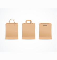 realistic detailed 3d paper bag set vector image