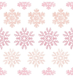 Red Christmas Snowflakes Geometric Textile Texture vector image