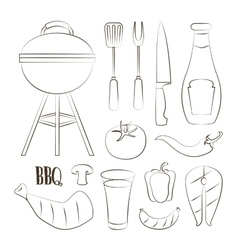 Set of barbecue vector