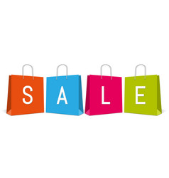 shopping bags with word sale vector image