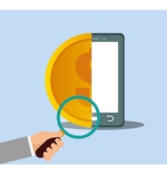 Smartphone money internet security vector