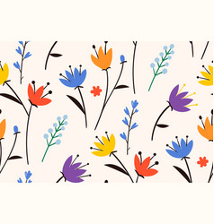 spring beautiful easter patterntrendy style vector image