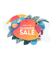 summer background 2019 2 vector image