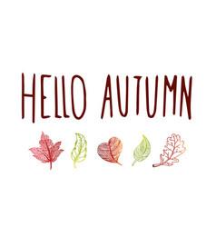 Sweet autumn leaves vector