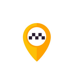 taxi pointer pin logo vector image