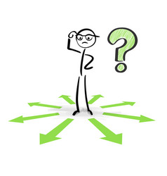 Thinking and choosing between different choices vector
