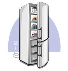 two door refrigerator vector image