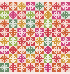 wallpaper seamless decoration of square tiles vector image