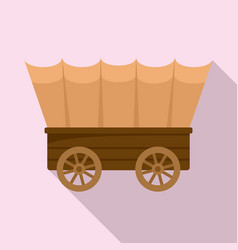 Western carriage icon flat style vector
