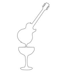 wine guitar vector image