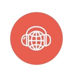 World music thin line icon vector