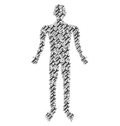 wrench person figure vector image