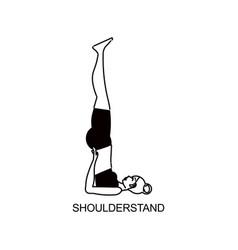 Yoga shoulder stand composition vector