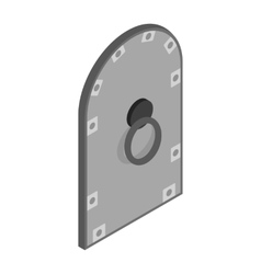 Arched steel door icon isometric 3d style vector image
