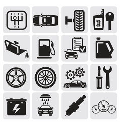 Auto car icons vector