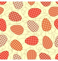 Easter yellow seamless pattern vector image vector image