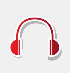headphones sign new year vector image vector image