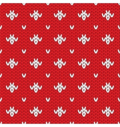 Knitted pattern seamless background vector image