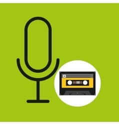 microphone music cassette tape vector image