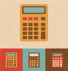 Retro Calculator vector image