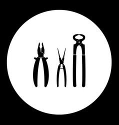 three variations of pliers hand tools vector image vector image