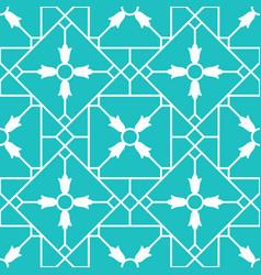 blue arabic ornamental ceramic tile vector image vector image