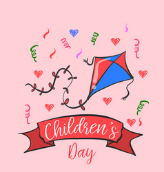 Doodle childrens day cute style collection vector