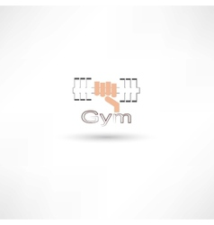dumbbell gym vector image vector image
