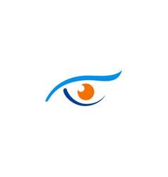 eye sharp monitoring logo vector image vector image