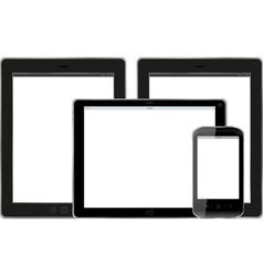Set of modern digital tablet PC with mobile smart vector image vector image